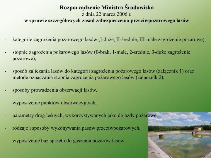 Rozporządzenie Ministra Środowiska