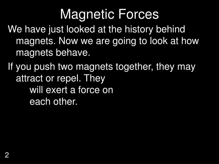 Magnetic Forces