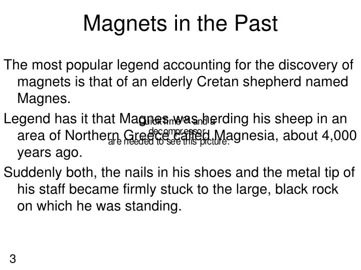 Magnets in the Past