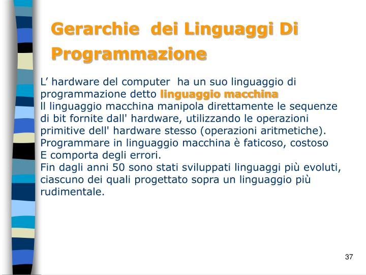 Gerarchie  dei Linguaggi Di Programmazione