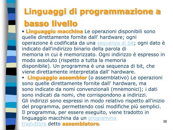 Linguaggi di programmazione a basso livello