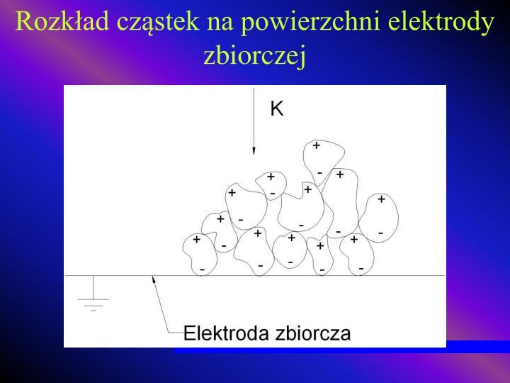 Rozkład cząstek na powierzchni elektrody zbiorczej