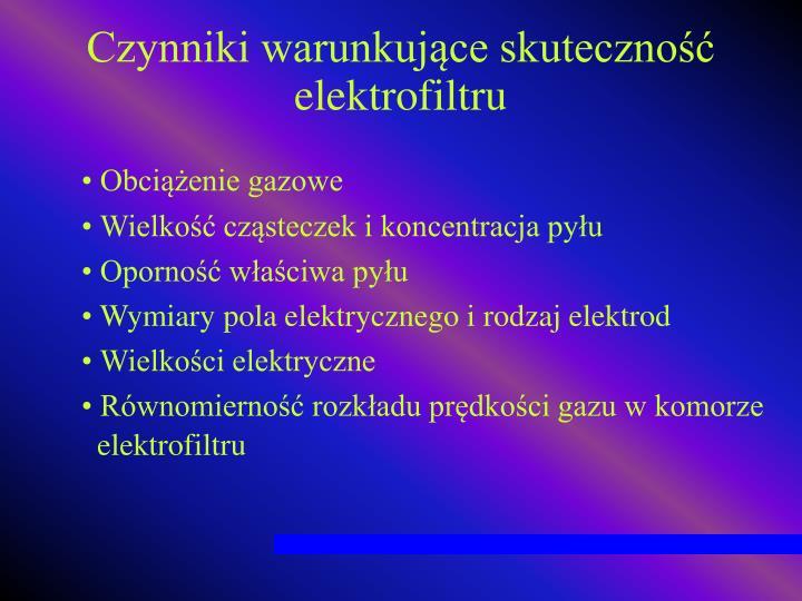 Czynniki warunkujące skuteczność elektrofiltru