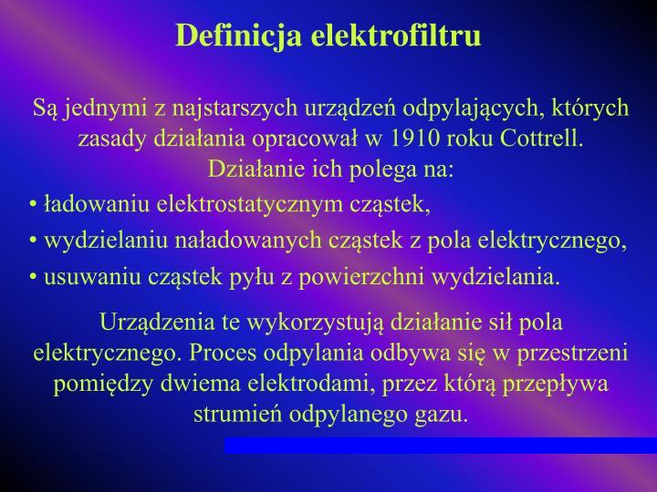 Definicja elektrofiltru