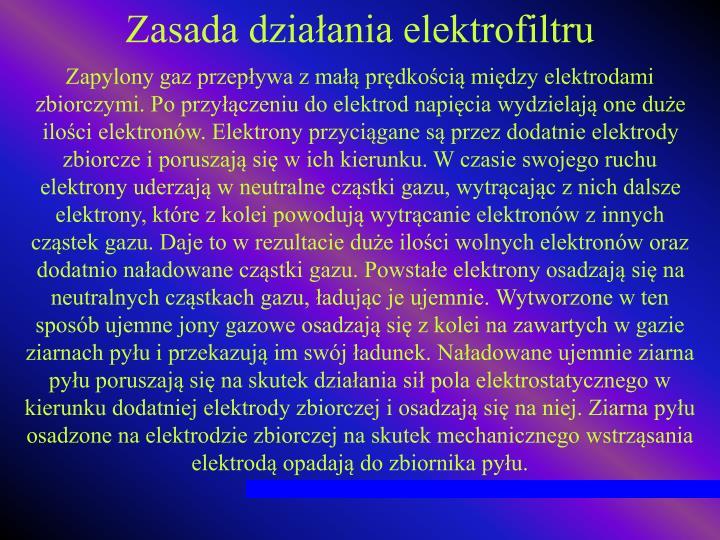 Zasada działania elektrofiltru