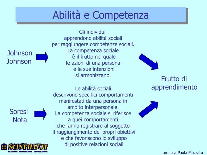 Abilità e Competenza
