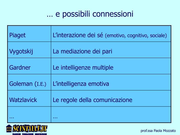 … e possibili connessioni