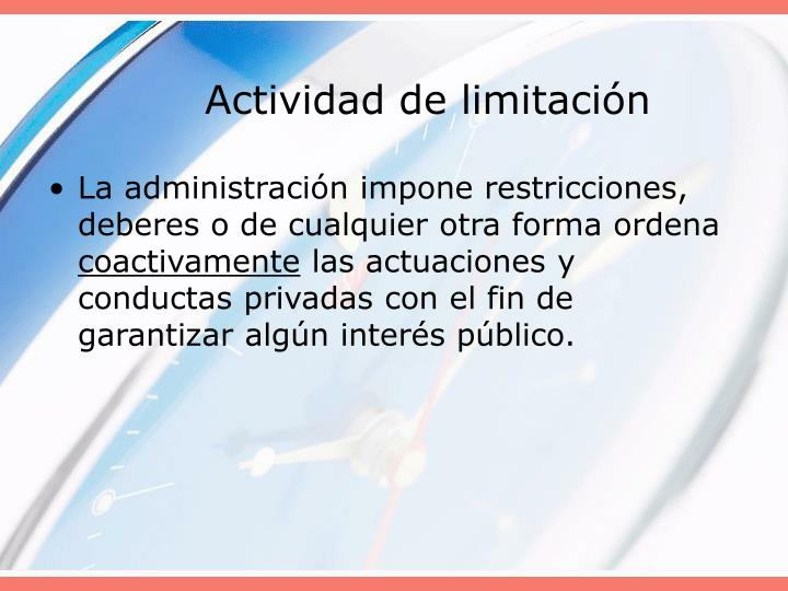 Actividad de limitación