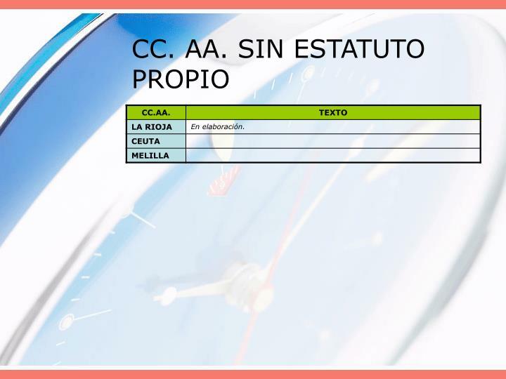 CC. AA. SIN ESTATUTO PROPIO