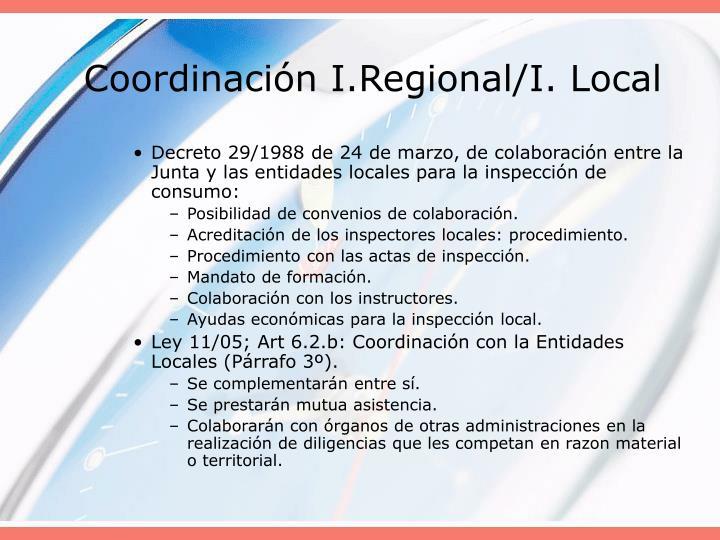 Coordinación I.Regional/I. Local