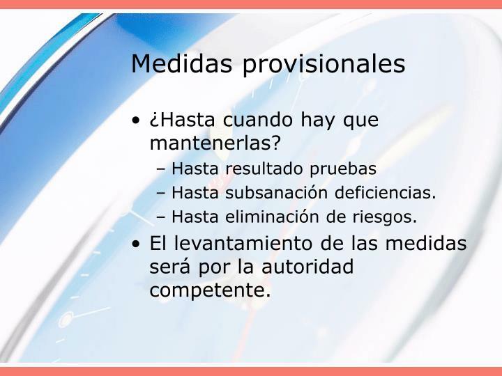 Medidas provisionales