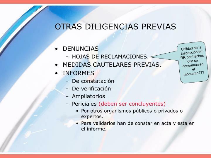 OTRAS DILIGENCIAS PREVIAS