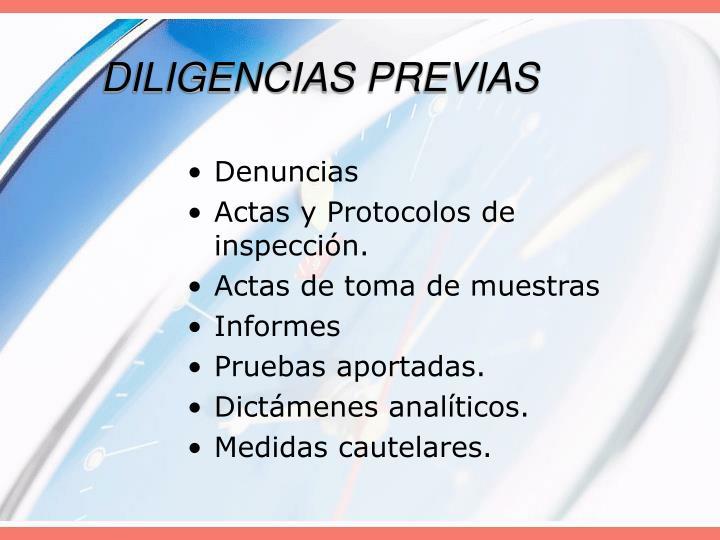 DILIGENCIAS PREVIAS