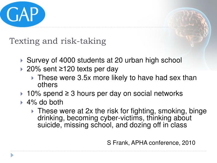 Texting and risk-taking