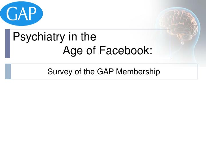 Psychiatry in the