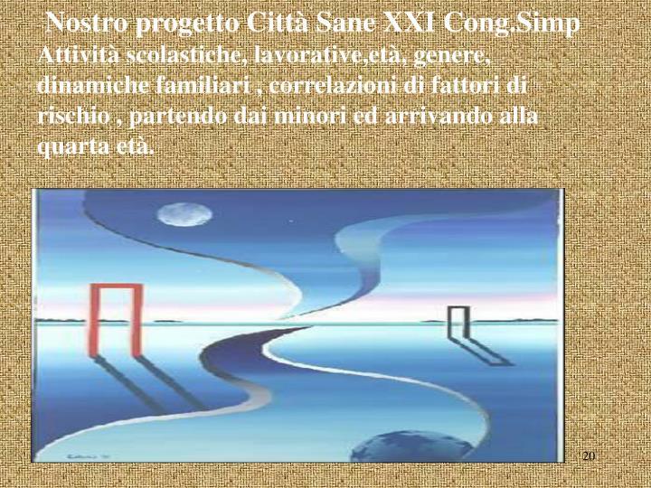Nostro progetto Città Sane XXI Cong.Simp