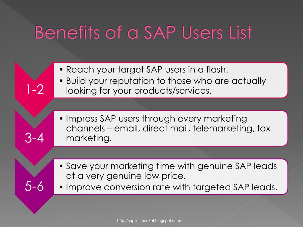 Benefits of a SAP Users List