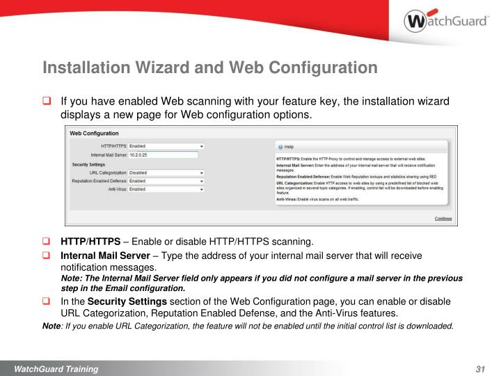 Installation Wizard and Web Configuration