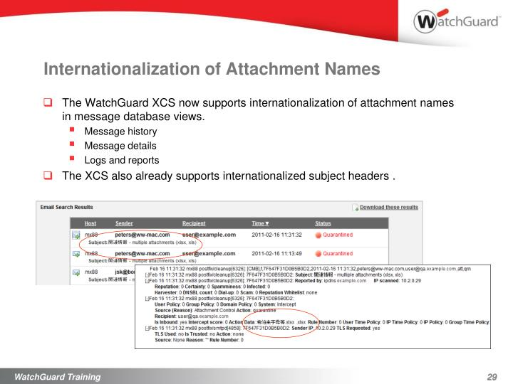 Internationalization of Attachment Names