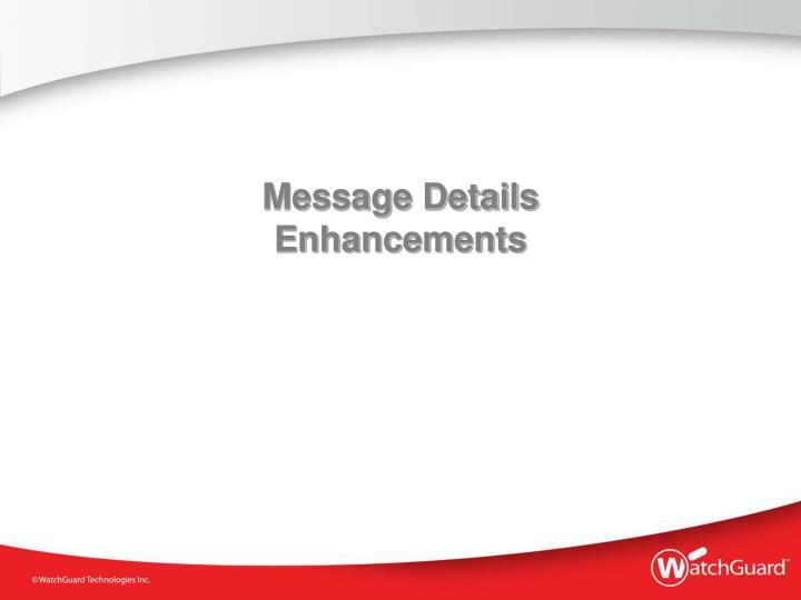 Message Details