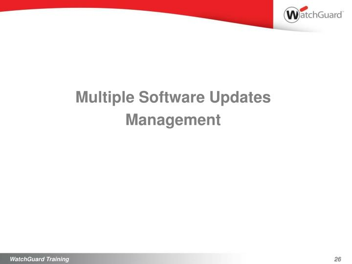 Multiple Software Updates