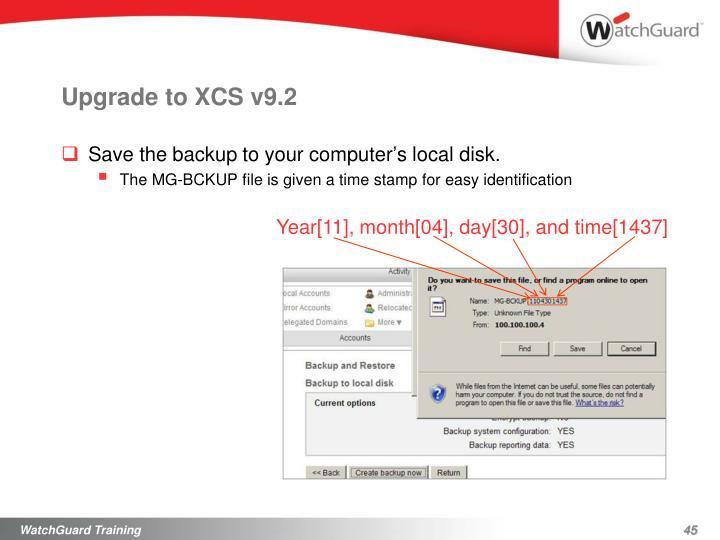 Upgrade to XCS v9.2