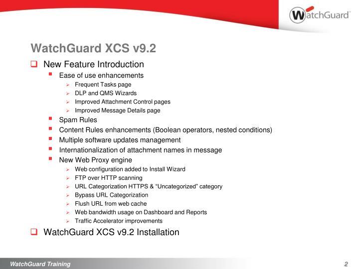 WatchGuard XCS v9.2