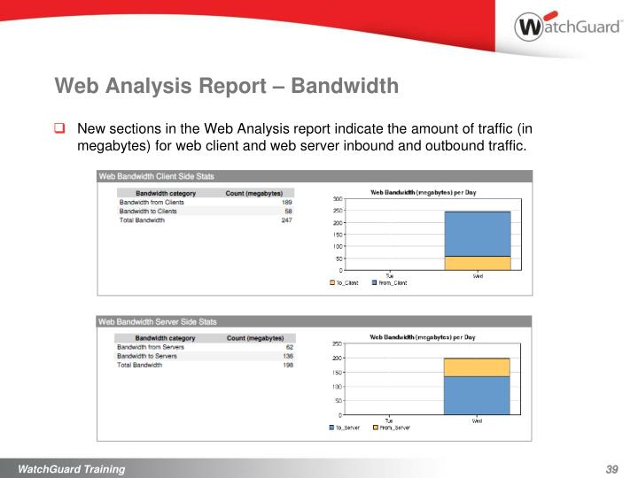 Web Analysis Report – Bandwidth