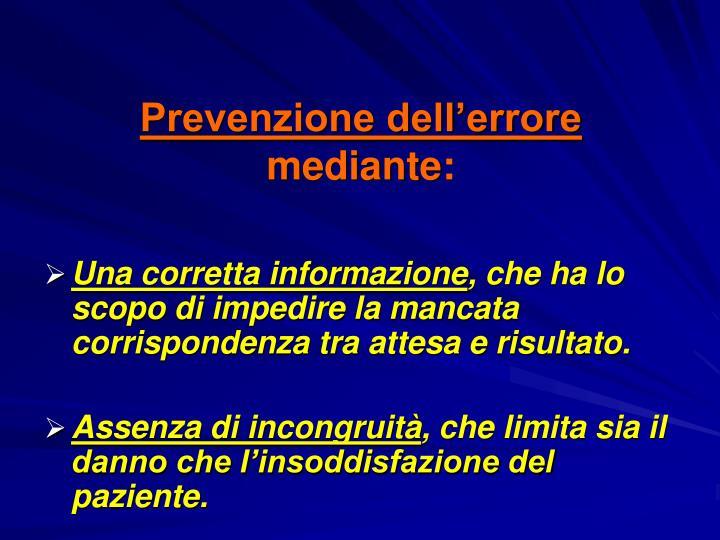 Prevenzione dell'errore