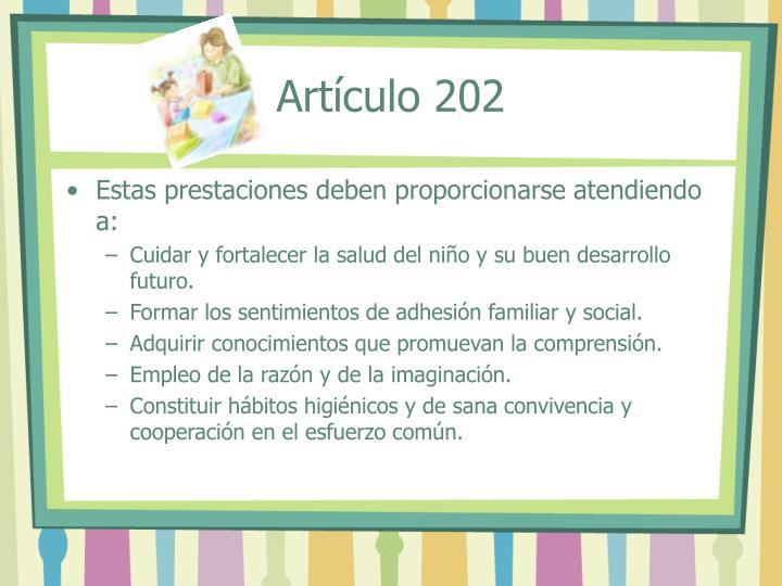 Artículo 202