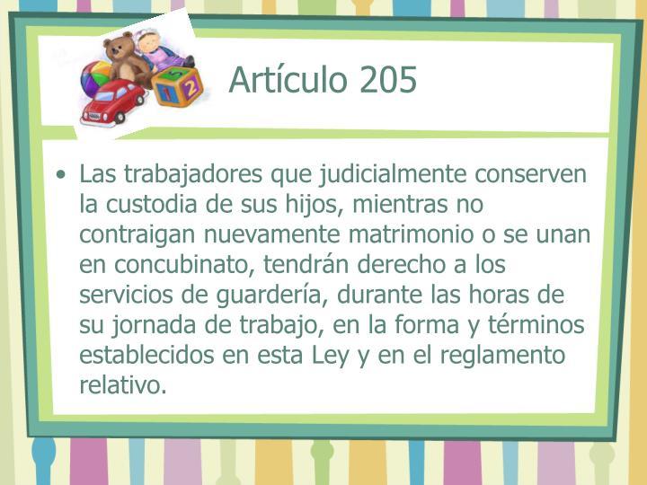 Artículo 205