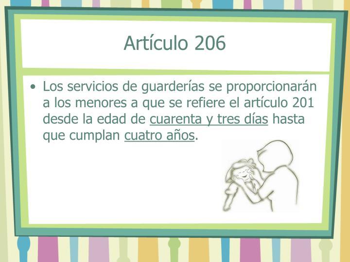 Artículo 206