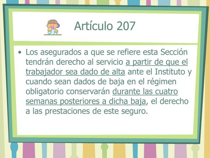 Artículo 207