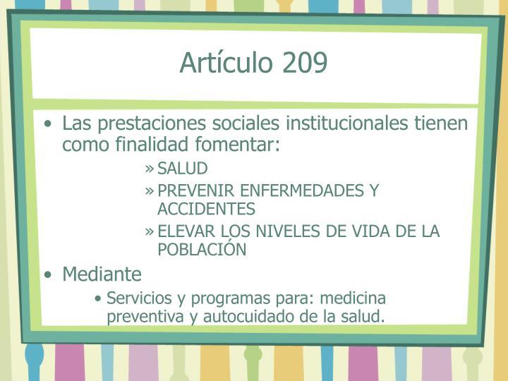 Artículo 209