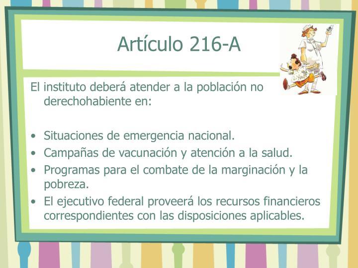 Artículo 216-A