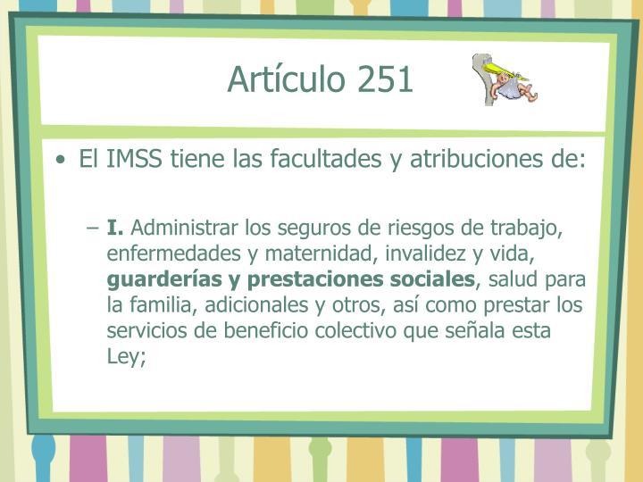 Artículo 251