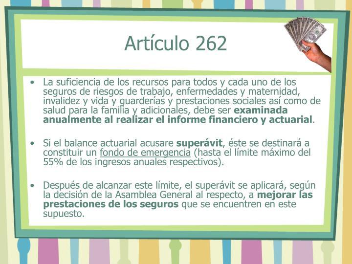 Artículo 262