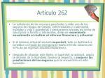 art culo 262