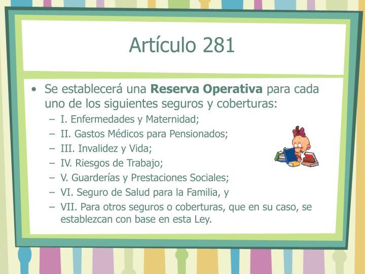 Artículo 281