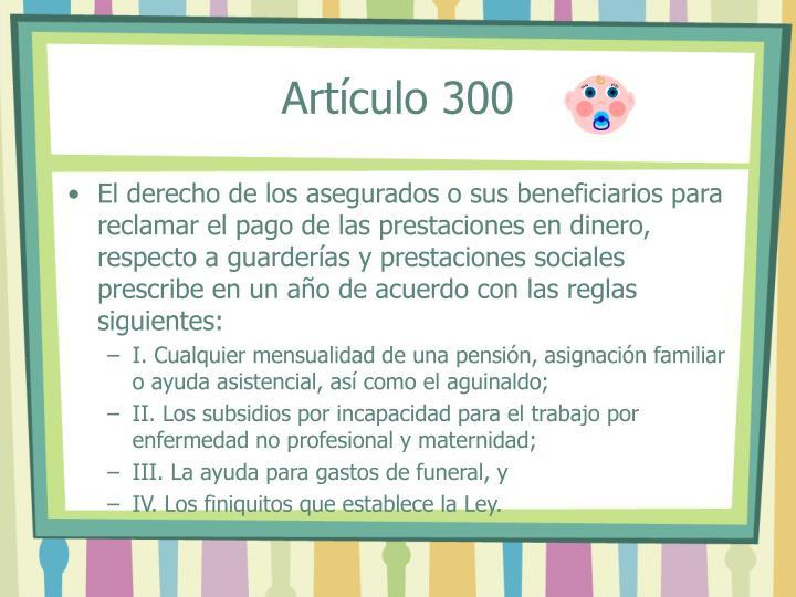 Artículo 300