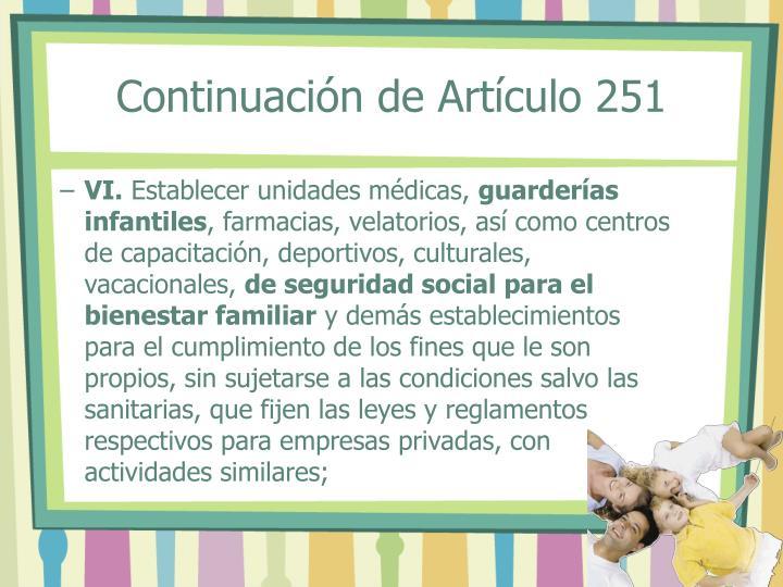 Continuación de Artículo 251