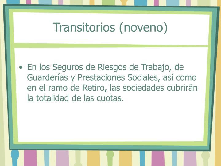 Transitorios (noveno)