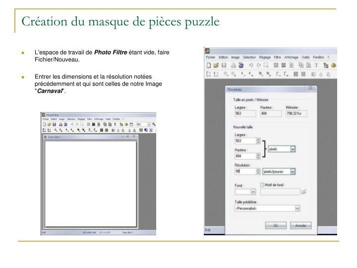 Création du masque de pièces puzzle