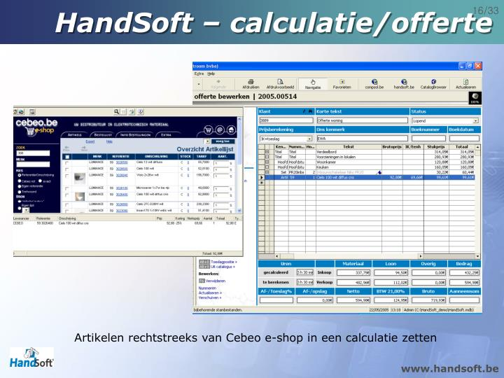 HandSoft – calculatie/offerte