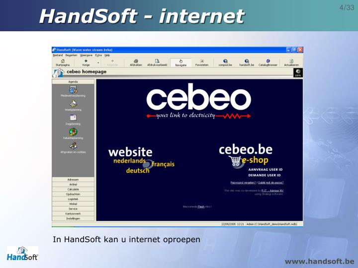 HandSoft - internet