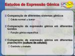 estudos de express o g nica