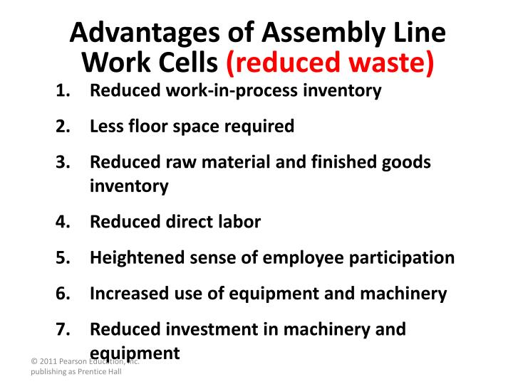 Advantages of Assembly Line Work Cells