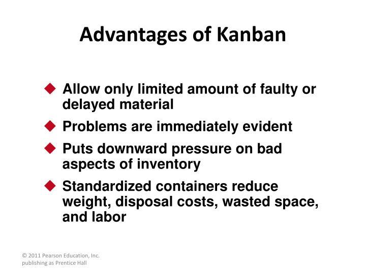 Advantages of Kanban
