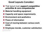 good layouts consider