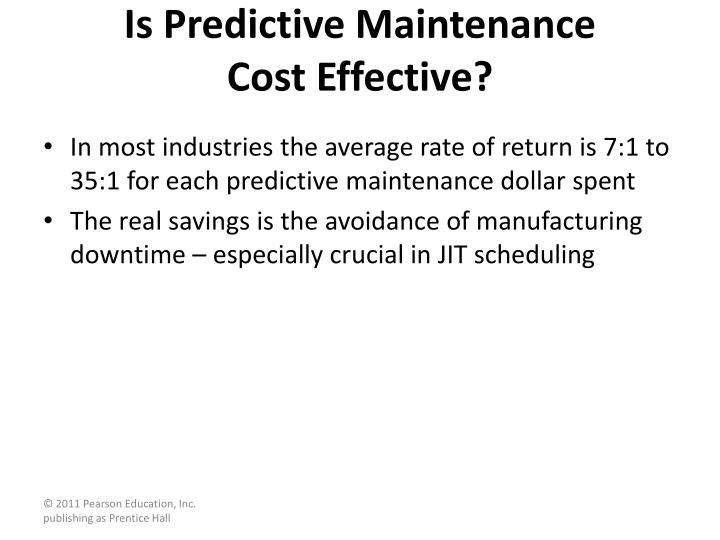 Is Predictive Maintenance